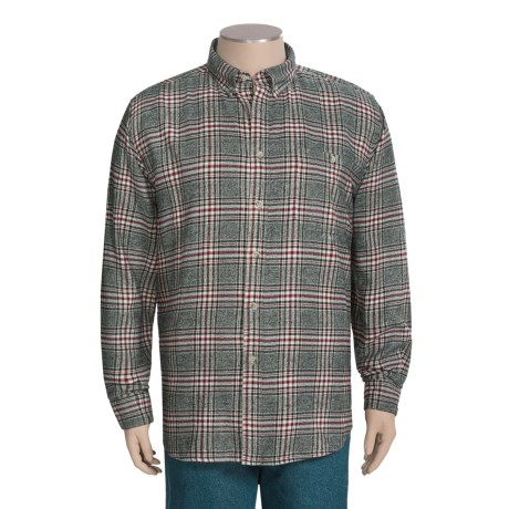 Woolrich Trout Run Flannel Shirt - Long Sleeve (For Tall Men)
