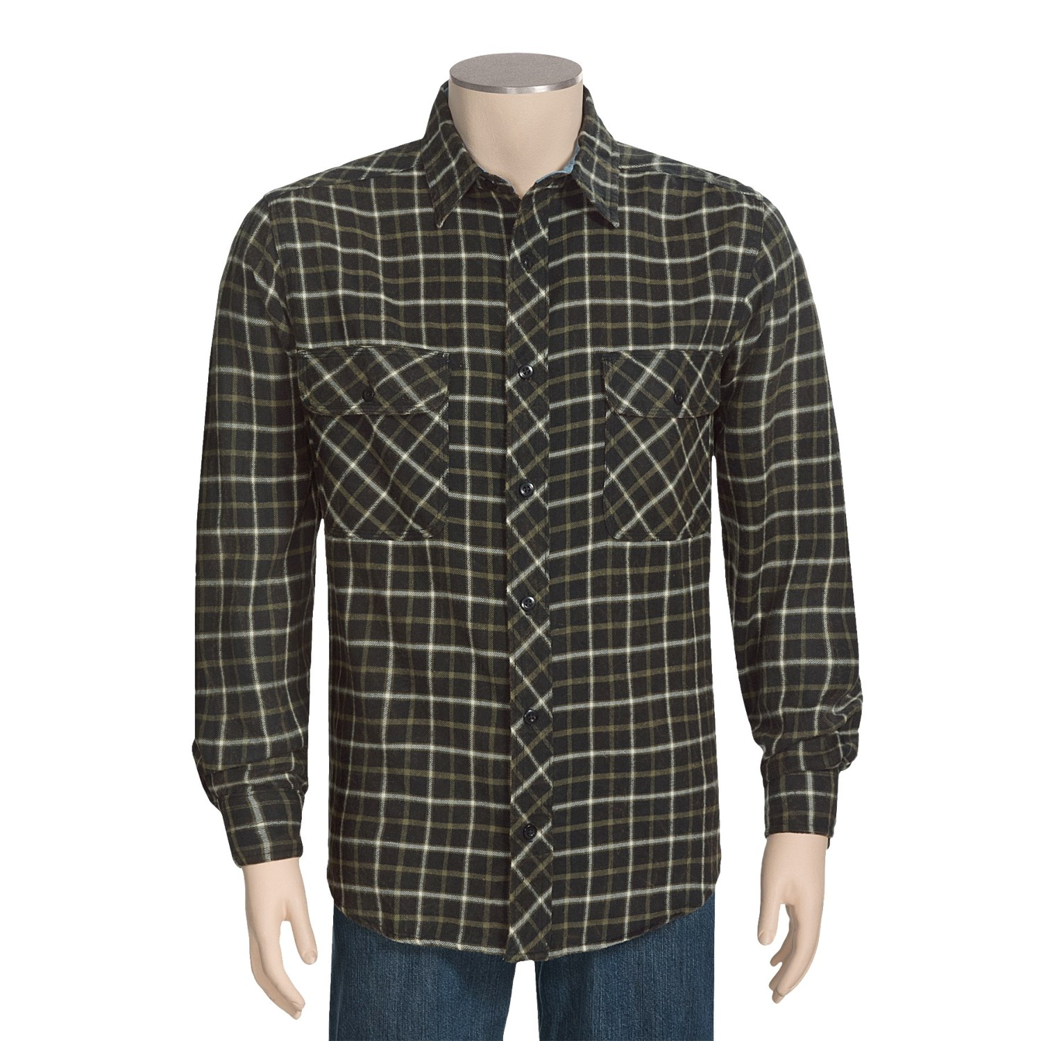 Woolrich miners wash flannel shirt for men 4469u for How to wash flannel shirts