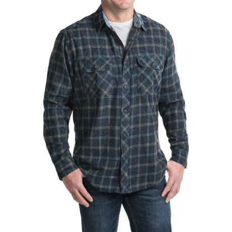 Woolrich Miners Wash Flannel Shirt - Long Sleeve (For Men)