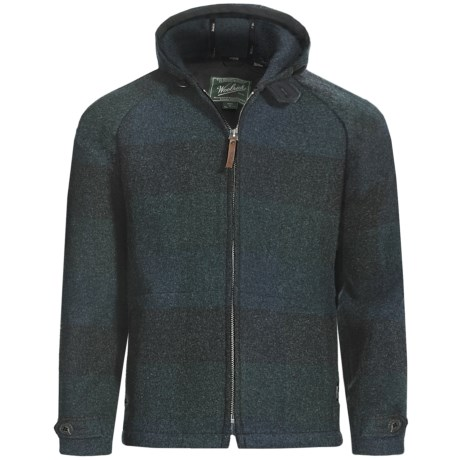 Woolrich Plateau Hoodie Sweatshirt - Full Zip (For Men)