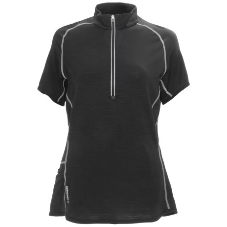Icebreaker GT150 Dash Base Layer Top - Merino Wool, Zip Neck, Short Sleeve (For Women)