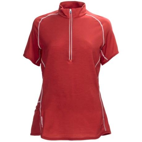 Icebreaker GT150 Dash Base Layer Top - Merino Wool, Zip Neck, Short Sleeve (For Women)