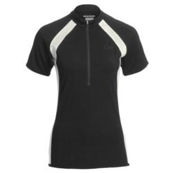 Icebreaker GT Bike Grace Cycling Jersey - Merino Wool, Zip Neck, Short Sleeve (For Women)