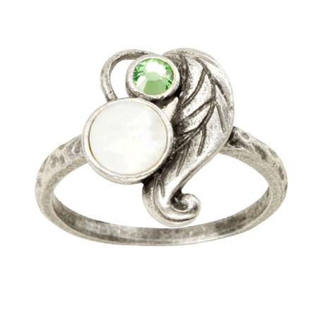 Big Sky Silver Spring Leaf Ring (For Women)