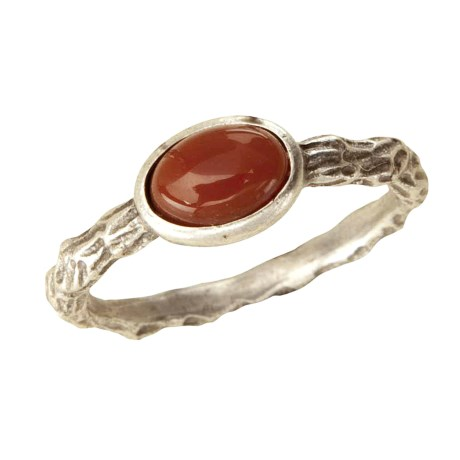 Big Sky Silver Carnelian Twig Ring (For Women)