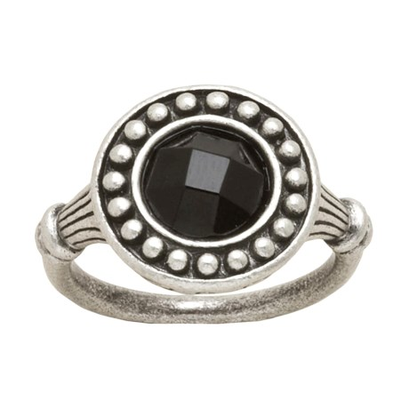 Big Sky Silver Obsidian Night Ring (For Women)