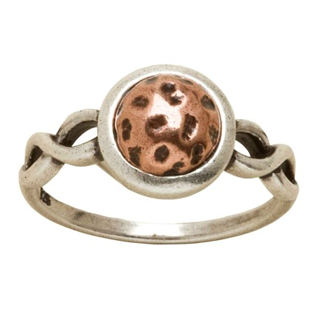 Big Sky Silver Copper Wave Ring (For Women)