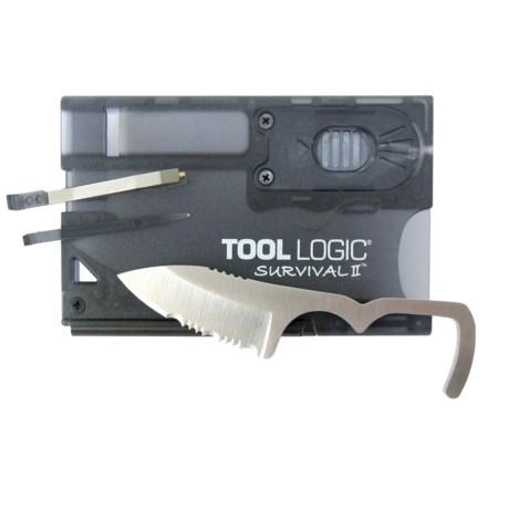 Tool Logic Survival Card II - Fire Starter, Flashlight