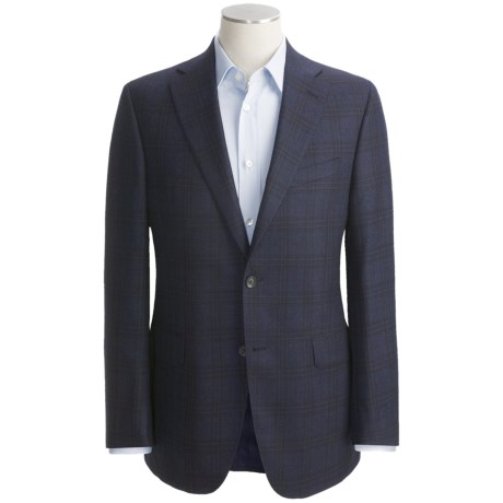 Jack Victor Shadow Plaid Sport Coat - Wool by Loro Piana (For Men)