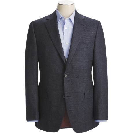 Jack Victor Mini Check Wool Sport Coat - Fabric by Loro Piana (For Men)