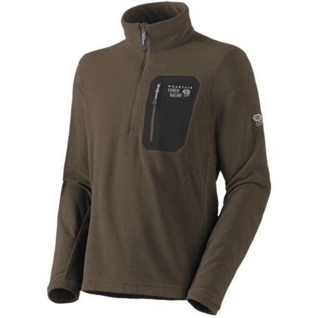 Mountain Hardwear Micro Grid Pullover Shirt - Zip Neck, Long Sleeve (For Men)