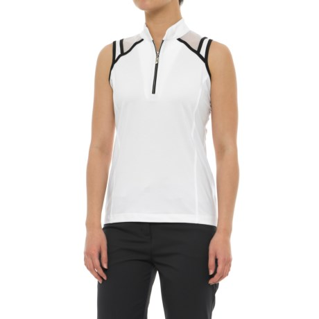 Sport Haley Double Take Gia Golf Polo Shirt - Zip Neck, Sleeveless (For Women)