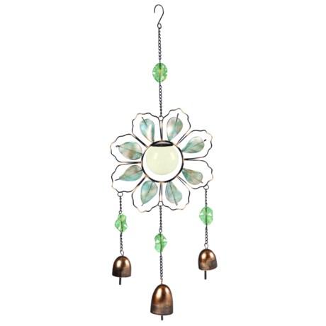 Evergreen Glow-in-the-Dark Flower Bell Wind Chime