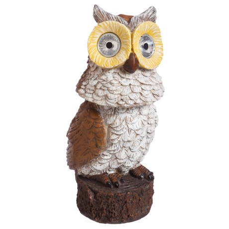 Evergreen Solar Owl Statuary with Swiveling Head