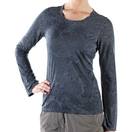 ExOfficio Aza Burnout Shirt - Scoop Neck, Long Sleeve (For Women)