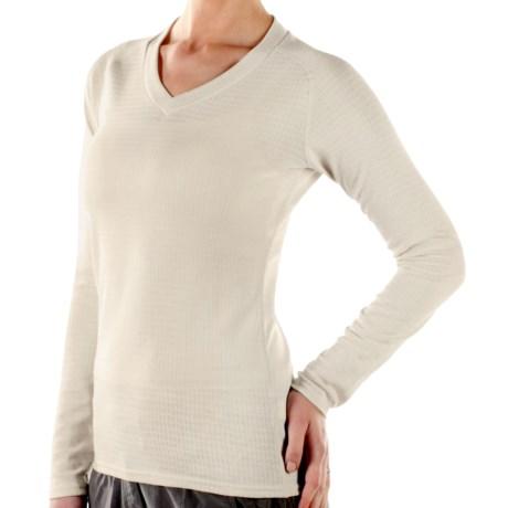 ExOfficio eXo Dri Lattice Shirt - V-Neck, Long Sleeve (For Women)