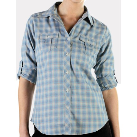 ExOfficio Pocatello Plaid Micro Shirt - Long Sleeve (For Women)