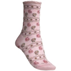 Pantherella Fancy Paisley and Floral Socks - Merino Wool, Mid-Calf (For Women)
