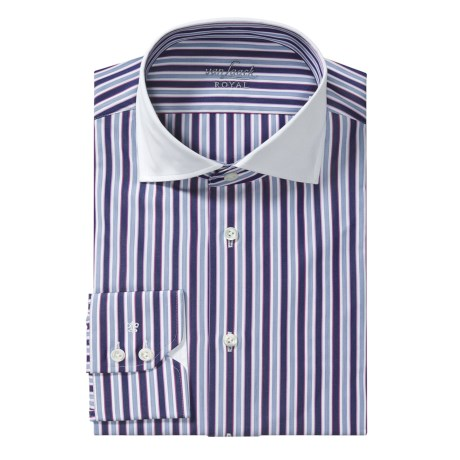 Van Laack Rivara Stripe Shirt - Regular Fit, Long Sleeve (For Men)