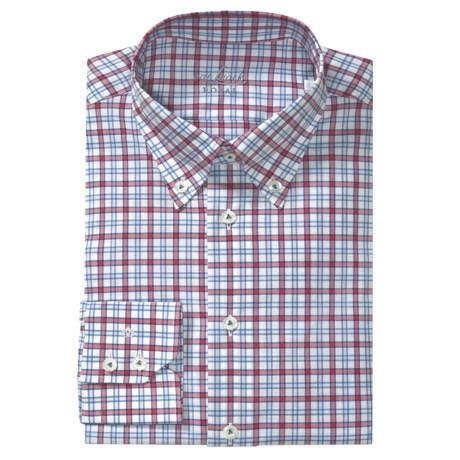 Van Laack Rarbi Check Tailored Fit Sport Shirt - Long Sleeve (For Men)