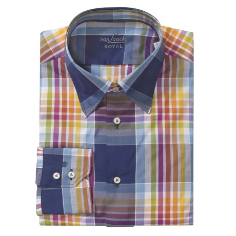 Van Laack Radici Stripe Tailored Fit Sport Shirt - Long Sleeve (For Men)