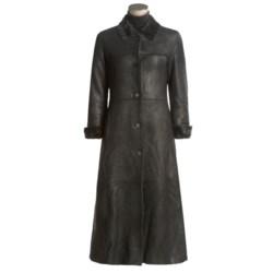 Nicole Miller Long Shearling Coat (For Women)