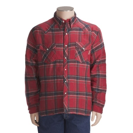 Work King Quilt-Lined Flannel Shirt - Long Sleeve (For Big Men)