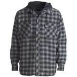 Work King Hooded Flannel Shirt - Quilt-Lined, Long Sleeve (For Men)