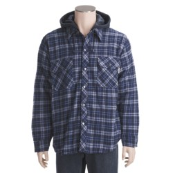 Work King Hooded Flannel Shirt - Fleece Lined, Long Sleeve (For Men)