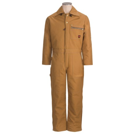 Tough Duck Deluxe 3-Zip Coveralls - Insulated, Full Leg Zip (For Men)
