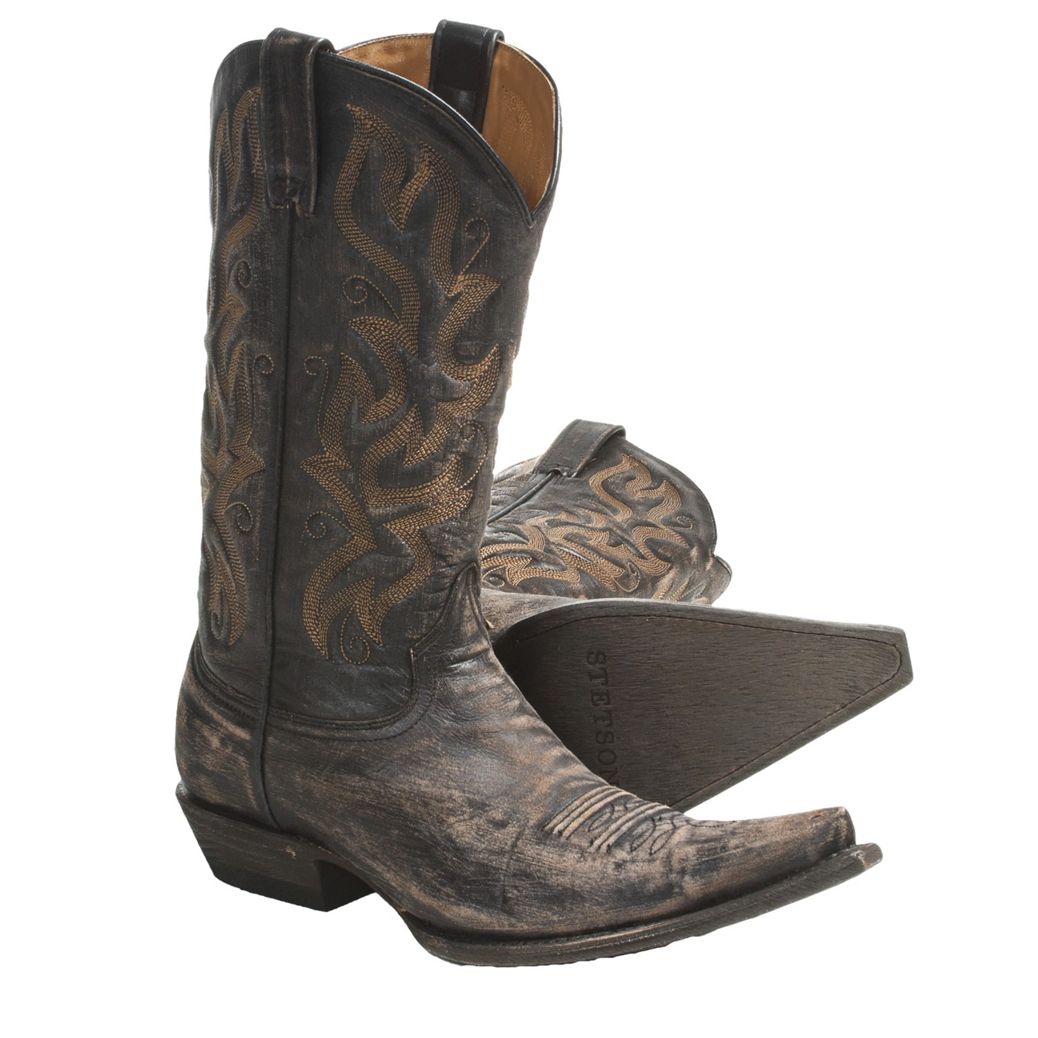 Stetson Fashion Snip Toe Cowboy Boots For Men 4508C