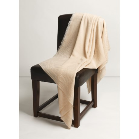 Johnstons of Elgin Cashmere Paisley Throw Blanket - Lightweight