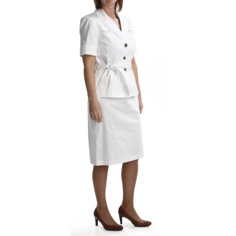 Isabella Safari Skirt Suit - Stretch Cotton (For Women)