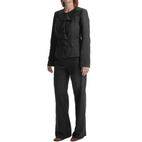 Isabella Ruffled Jacket Pant Suit (For Women)