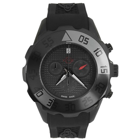 Gevril GV2 by  Parachute Chronograph Watch - PVD Coated, Rubber Strap