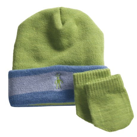 SmartWool Cuffed Beanie Hat and Mitten Set - Merino Wool (For Infants)