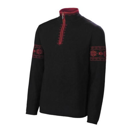 Neve Sven Sweater - Merino Wool, Zip Neck (For Men)