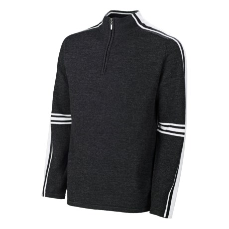 Neve Gordon Sweater - Merino Wool, Zip Neck (For Men)