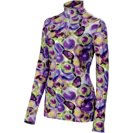 Neve Marbles Shirt - Zip Neck, Long Sleeve (For Women)