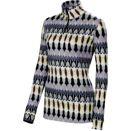 Neve Feathers Shirt - Zip Neck, Midweight, Long Sleeve (For Women)