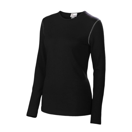 Neve Solid Stretch Shirt - Merino Wool-Silk, Long Sleeve (For Women)