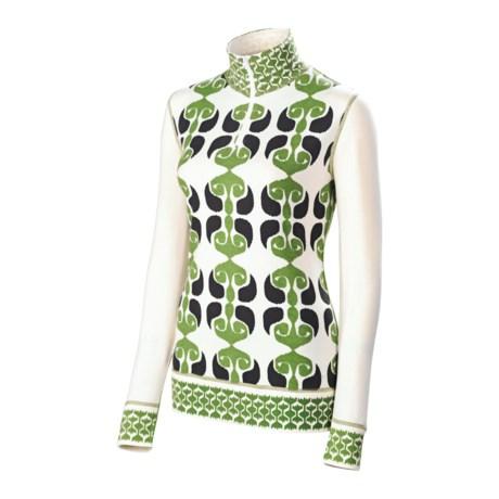 Neve Ikat Shirt - Stretch Cotton-Silk, Long Sleeve (For Women)