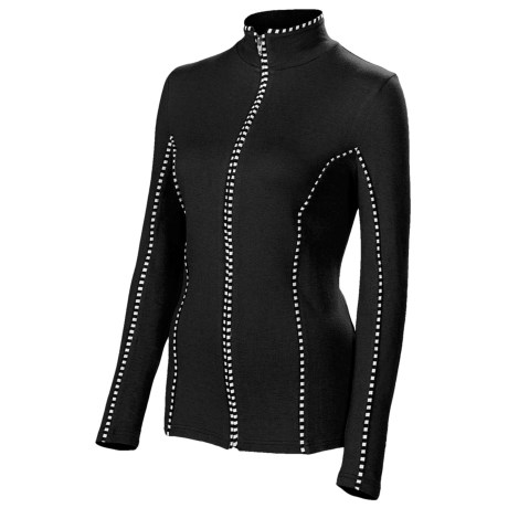 Neve Premiere Zip Shirt - Merino Wool-Silk, Lightweight, Long Sleeve (For Women)