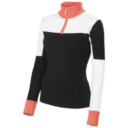 Neve Corinne Color-Block Zip Neck Sweater - Cotton-Merino Wool (For Women)