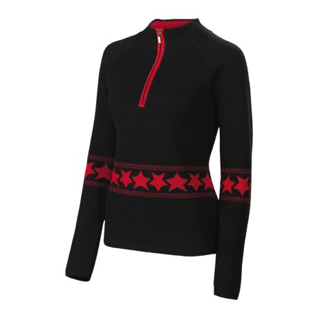 Neve Melanie Star Merino Wool Sweater - Zip Neck (For Women)