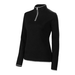Neve Annabelle Cotton-Wool Sweater - Mock Zip (For Women)