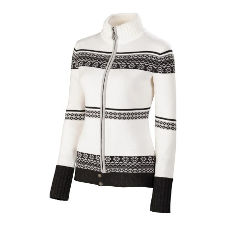 Neve Blanca Zip Sweater - Ultrafine Merino Wool (For Women)