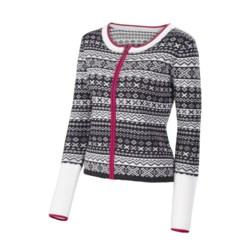 Neve Gabrielle Mini Fair Isle Cardigan Sweater - Merino Wool (For Women)