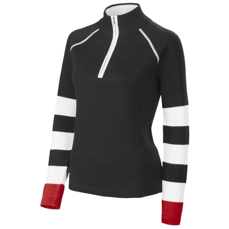 Neve Casey Sweater - Zip Neck, Cotton (For Women)
