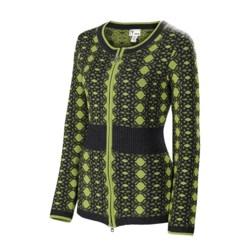 Neve Alba Zip Cardigan Sweater - Merino Wool (For Women)